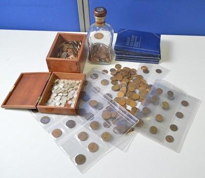 Lot 188 - GB pre-1947 3d.; and copper coinage