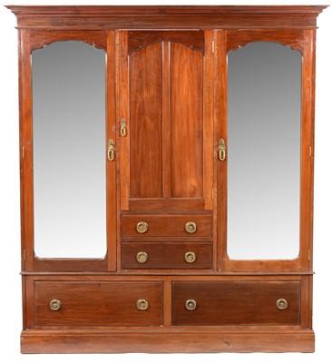 Lot 885 - An Edwardian mahogany wardrobe.
