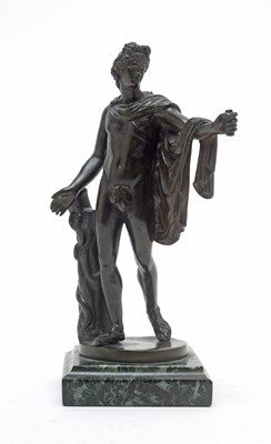 Lot 797 - After the Antique: brown patinated bronze.