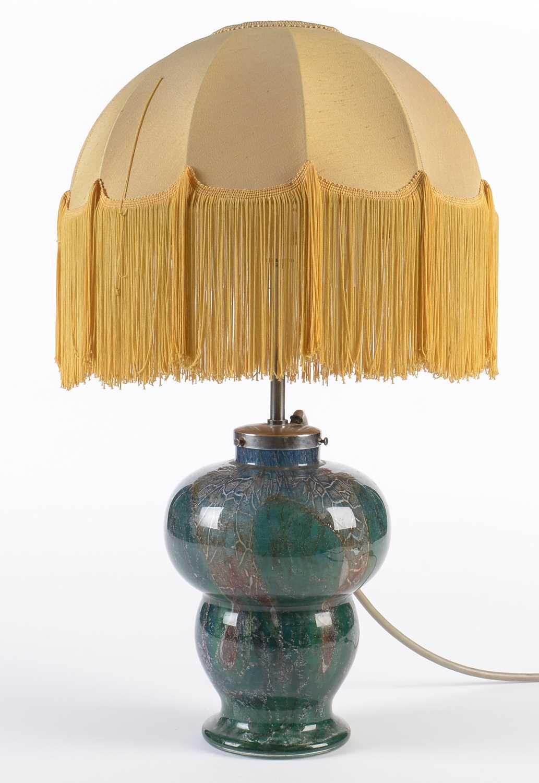 Lot 785 - 1930's Glass lamp with illuminated base