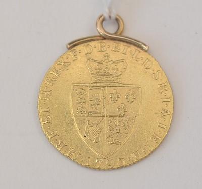 Lot 182 - George III gold spade guinea