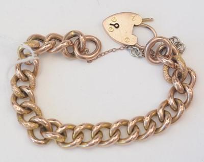 Lot 188 - 9ct yellow gold bracelet