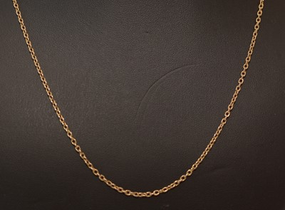 Lot 159 - 18ct yellow gold chain necklace