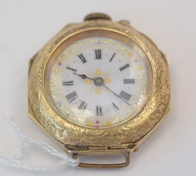 Lot 164 - 18ct yellow gold watch