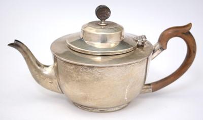 Lot 196 - Silver teapot
