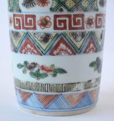 Lot 422 - Chinese Wucai vase