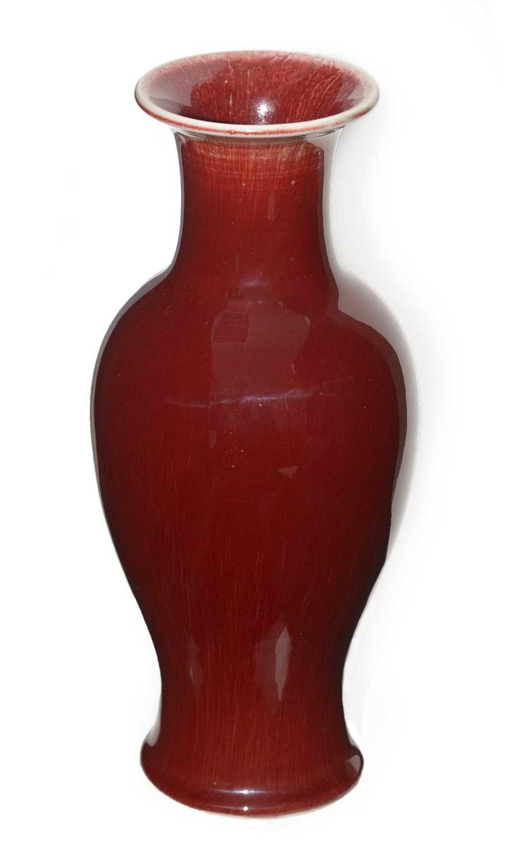 Lot 423 - Sang de boeuf vase