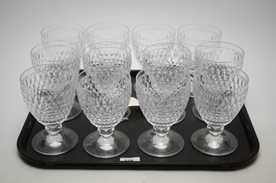Lot 278 - Set of twelve Villeroy & Boch crystal U-shaped goblets.