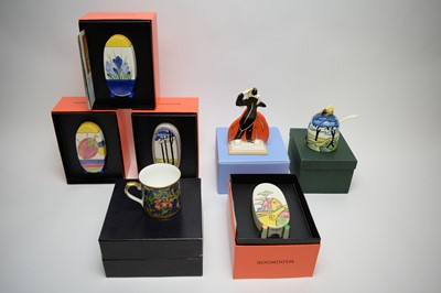 Lot 232 - Clarice Cliff items to include Art Deco Dancer group