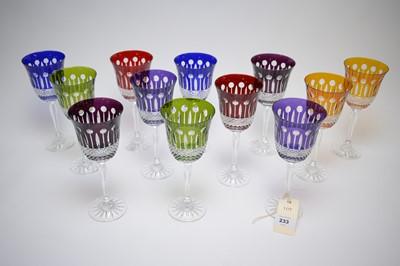 Lot 233 - Glass hock glasses