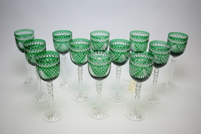 Lot 234 - Set of Modern Hungarian Hock glasses
