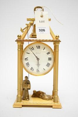 Lot 326 - A Imhof striking automaton mantle clock, the...