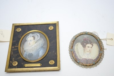 Lot 328 - Two miniatures.