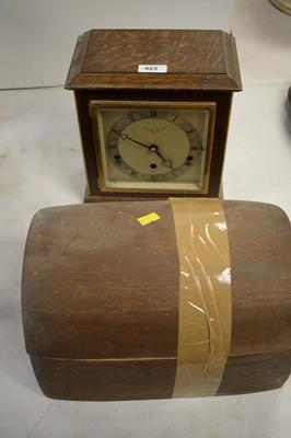 Lot 423 - Garrard & Co. mantel clock; and a Mahjong set.