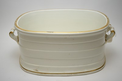 Lot 426 - Large 19th C white oval foot bath.
