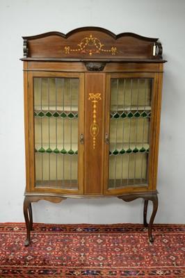 Lot 39 - Edwardian mahogany display cabinet.