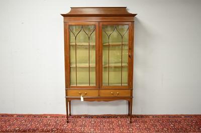 Lot 34 - Edwardian display cabinet.