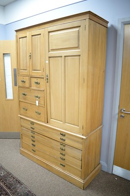 Lot 126 - 20th Century stripped oak estate cabinet.