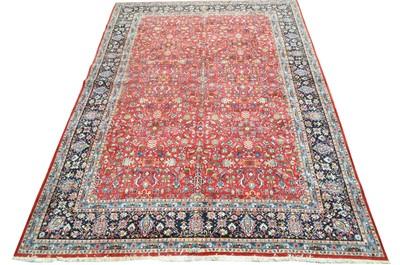 Lot 638 - A fine signed Kashan carpet