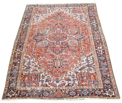 Lot 646 - Antique Heriz carpet