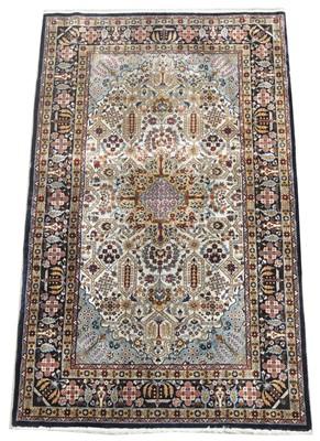 Lot 676 - Fine silk rug