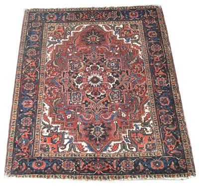 Lot 677 - Antique Heriz rug