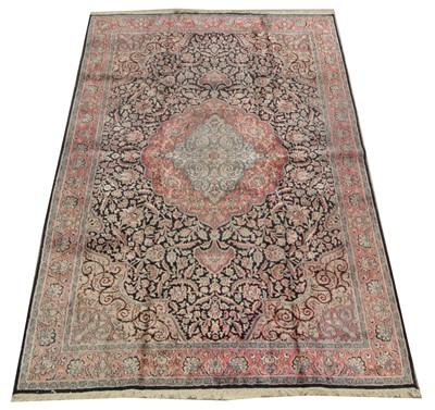 Lot 691 - Silk Kashan carpet
