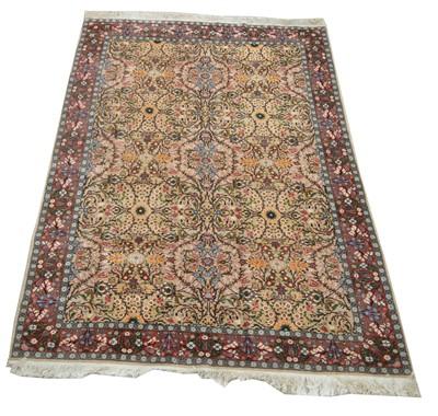 Lot 694 - Fine Qum carpet
