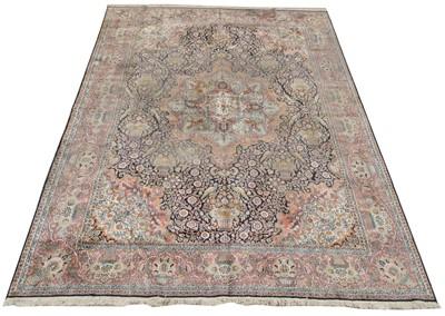 Lot 726 - Silk Kashan carpet