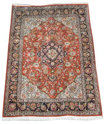 Lot 734 - Silk Qum rug