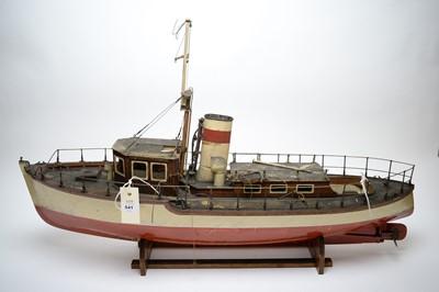 Lot 541 - A scratch built ship model