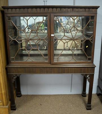 Lot 119 - 19th C and later mahogany display cabinet.