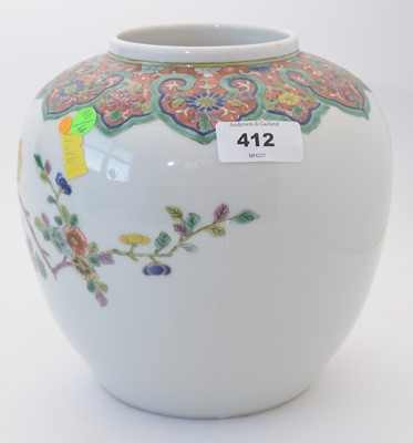 Lot 412 - Chinese ginger jar and cover