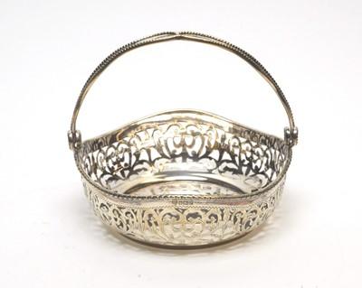 Lot 187 - A Queen Elizabeth II silver basket.