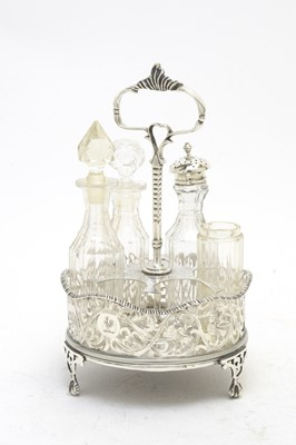 Lot 200 - A 19th C Continental condiment stand.