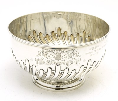 Lot 135 - A Victorian silver trophy bowl.