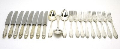 Lot 198 - A part suite of German 800 standard silver cutlery.