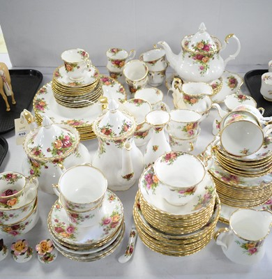 Lot 410 - Large qty. of Royal Albert 'Old Country Roses' tea and dinner ware.