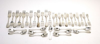 Lot 144 - A suite of 19th Century silver cutlery.