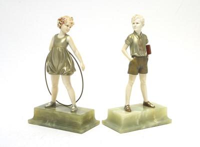 Lot 814 - Ferdinand Preiss: Sonny boy and hoop girl.