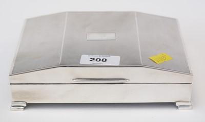 Lot 208 - Silver cigarette case.