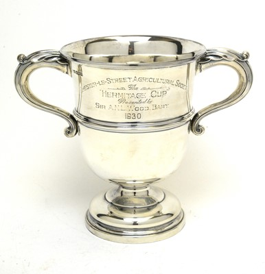 Lot 193 - Silver two handled trophy cup