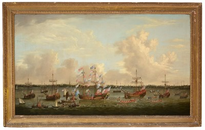 Lot 368 - Attributed to Thomas Allen - oil.