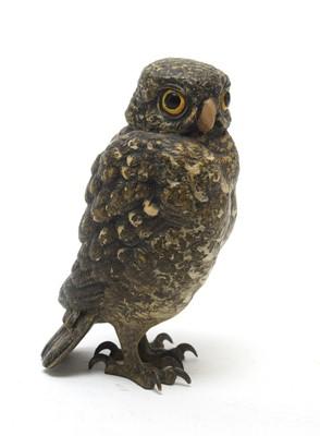 Lot 811 - Franz Bergman cold painted bronze owl