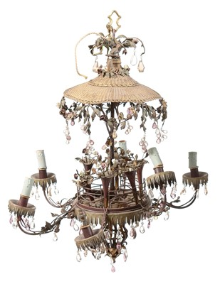 Lot 795 - Early 20th Century pagoda chandelier