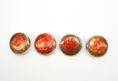 Lot 210 - Four Liberty & Co silver and enamel buttons