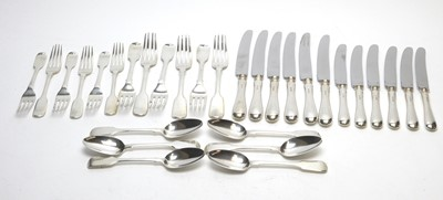 Lot 171 - A mixed suite of silver cutlery