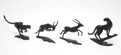Lot 810 - Four bronze African animals by Jonathan Sanders