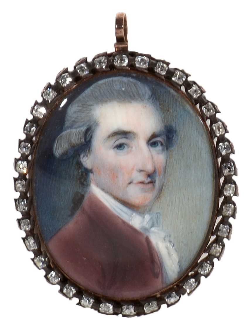 Lot 333 - A Follower of Richard Cosway - miniature.