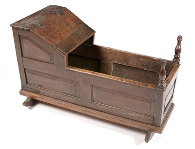 Lot 823 - 19th Century oak cradle